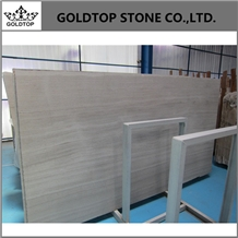 Chinese Polished White Wood Marble Slabs and Tiles