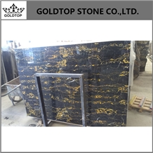 Polished Italy Portoro Black Big Slabs and Tiles
