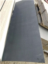 China Black Grey Honed Basalt Tiles Without Holes