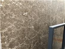 Crystal Emperador Light Marble Slab/Tile for Decor