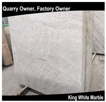King/Well White Marble Slabs/Tiles/Cut to Size Polished for Floor Wall