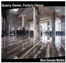 Own Factory Blue Danube/Blue Gold Sand Marble