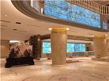 Backlit Blue Onyx Slabs for Hotel Decoration