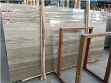 China Cheap Price Grey Wood Grain Marble Slabs