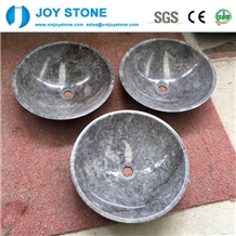 Color Grey Marble Bowl Shape Bathroom Wash Basin