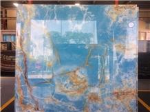 Factory Wholesale Polished Blue Onyx Slabs