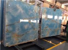 High Polished Blue Onyx Slabs for Sale