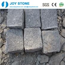 High Quality Dark Grey Granite Cobblestone Paving