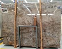 Amazon Jungle Normandy Grey Marble Slabs Floor