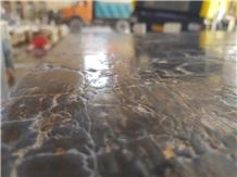 Pietra Marshal Black Marble Leathered Slabs