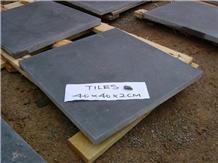 Honed Black Chinese Bluestone Limestone Floor Tile