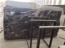 New China Juparana Silver River Black Granite Slab