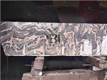 China Multi Red Granite/Juparana Grey Granite Slab