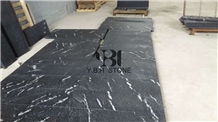 Cosmos Black Granite Flamed Flooring Tiles/Slabs