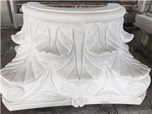 White Cylindrical Column, Marble for Decoration