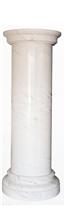 White Cylindrical Column, Roman Greek Columns