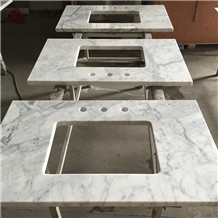 Bianco Carrara White Marble Vanity Top