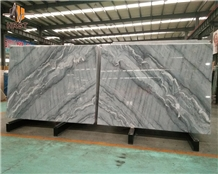 Bookmatched Bruce Grey Marble Slabs
