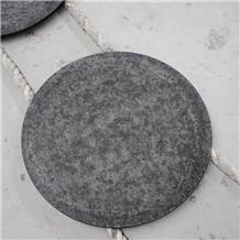 Brushed Finish Mongolia Black Granite Table Tops