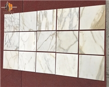 Calcutta Gold Marble Tiles 12x12 Inch
