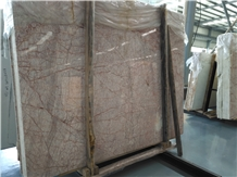 China Red Spider Marble Slab