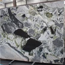 Chinese Green Primavera Marble Slab