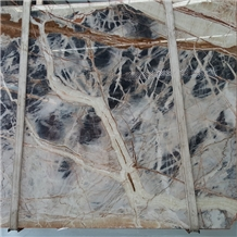 Chinese Jungle Black Marble Busy Veins Slab