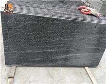 Chinese Wood Grained Black Granite Tiles