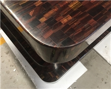 Gem Stone Synthetic Red Tiger Eye Countertop