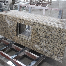 Giallo Santa Cecilia Dark Granite Vanity Tops