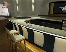 High Quality Casino Bar Calacatta Gold Marble Top