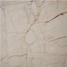 Ivory Gold Marble Slab