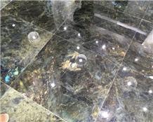 Madagascar Labradorite Blue Granite Flooring Tiles