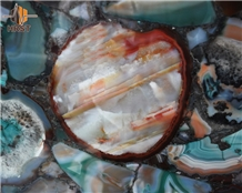 Multicolor Agate Stone Wall Panels Tiles