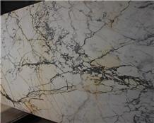 Natural Polished Paonazzo White Marble Slab