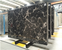Natural Stone Polished Ice Flower Black Marble