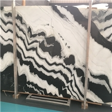Panda White Marble Slabs with Black Veins