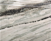 Polished White Jade Green Veins Marble Tiles