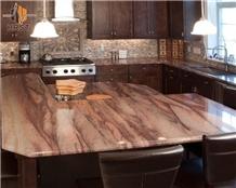 Red Colinas Granite Kitchen Countertop