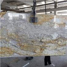 River Gold Granite Kitchen Countertops