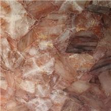 Transparent Onyx Crystal Orange Slab