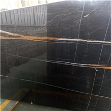 Tunisia Black Sahara Noir Marble Slab Price