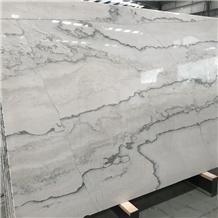White Color Calacatta Macaubas Quartzite Slabs