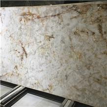 White Cristallo Quartzite Slabs