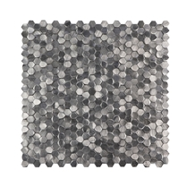 Metal Wall Decoration Silver Aluminum Mosaic