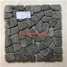 Black Andesite Mosaic Stone Square