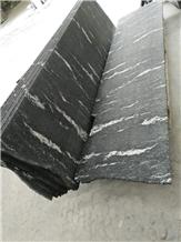 Black Nero Nuvolato Granite Slabs Floor Covering