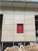 Chinese Yellow Granite Buliding Exterior Panel