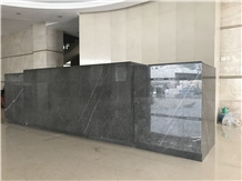 Commercial Hotel Butterfly Grey Marble Bar Tops