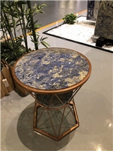Exotic Bolivian Blue Dining Table Top